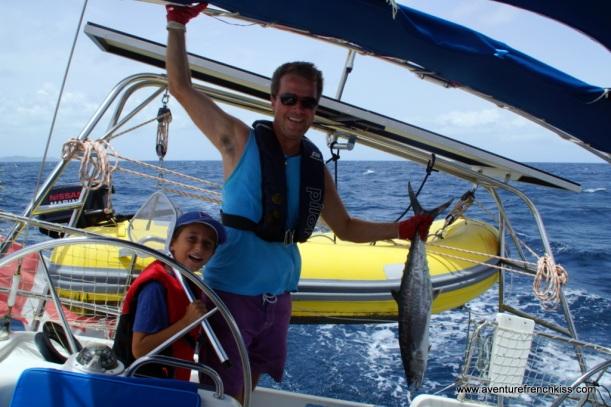 Les pêcheurs fiers de leur première prise